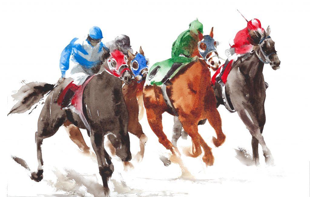 horses and jockeys r